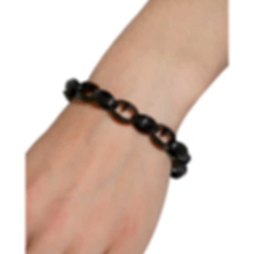 Stephen Webster Thorn Black Steel Unisex Chain Link Bracelet SB0051-RH
