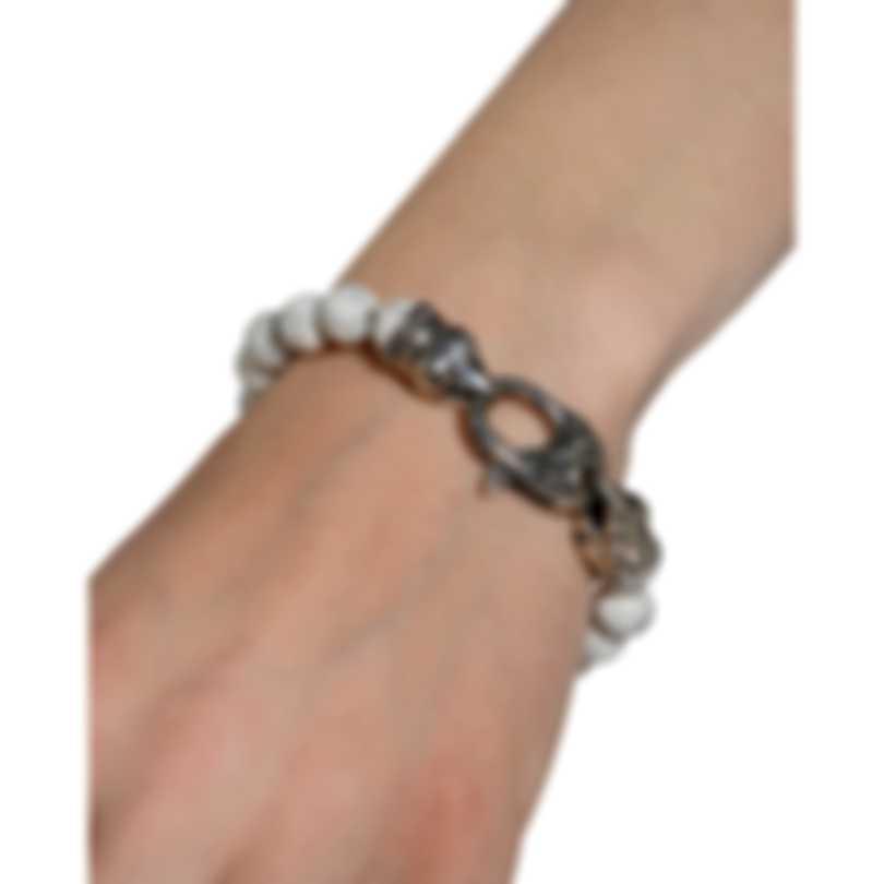 Stephen Webster Beasts Of London Sterling Silver And Howlite Bracelet SB0081-OX