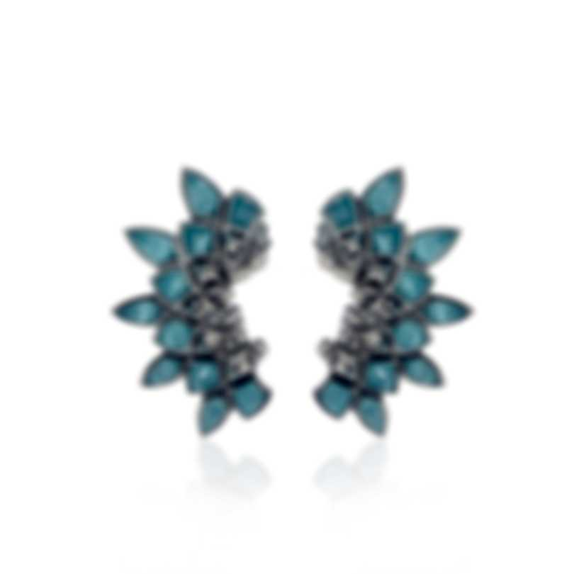 Stephen Webster Superstud Sterling Silver & Cat's Eye Crystal Haze Earrings SE03