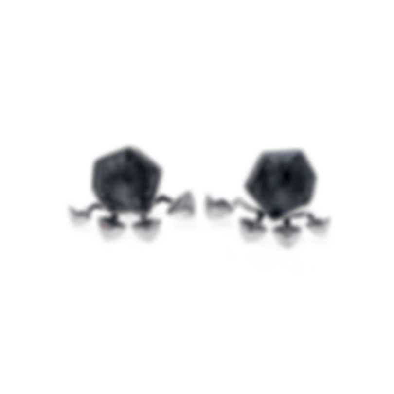 Stephen Webster Superstud Sterling Silver & Cat's Eye Crystal Haze Earrings SE04