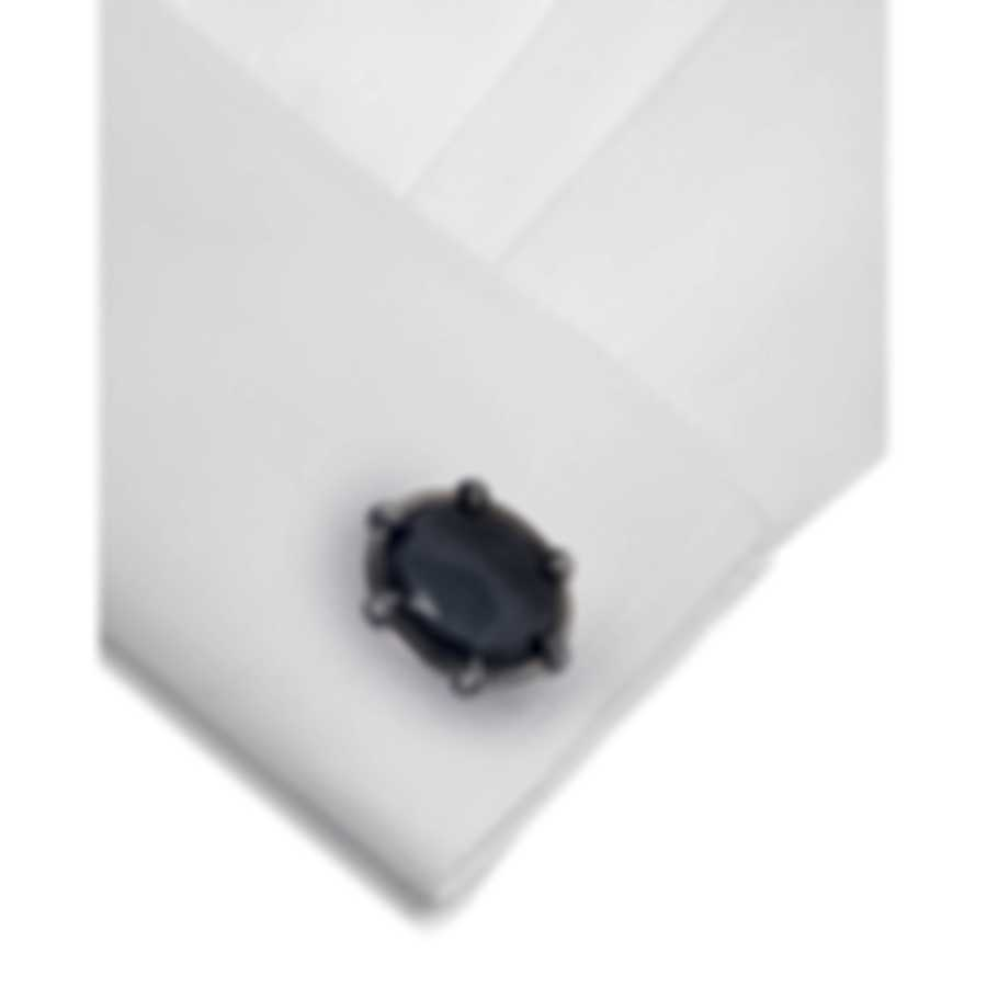 Stephen Webster Classic Sterling Silver & Quartz Crystal Haze Cufflinks SM0075-O
