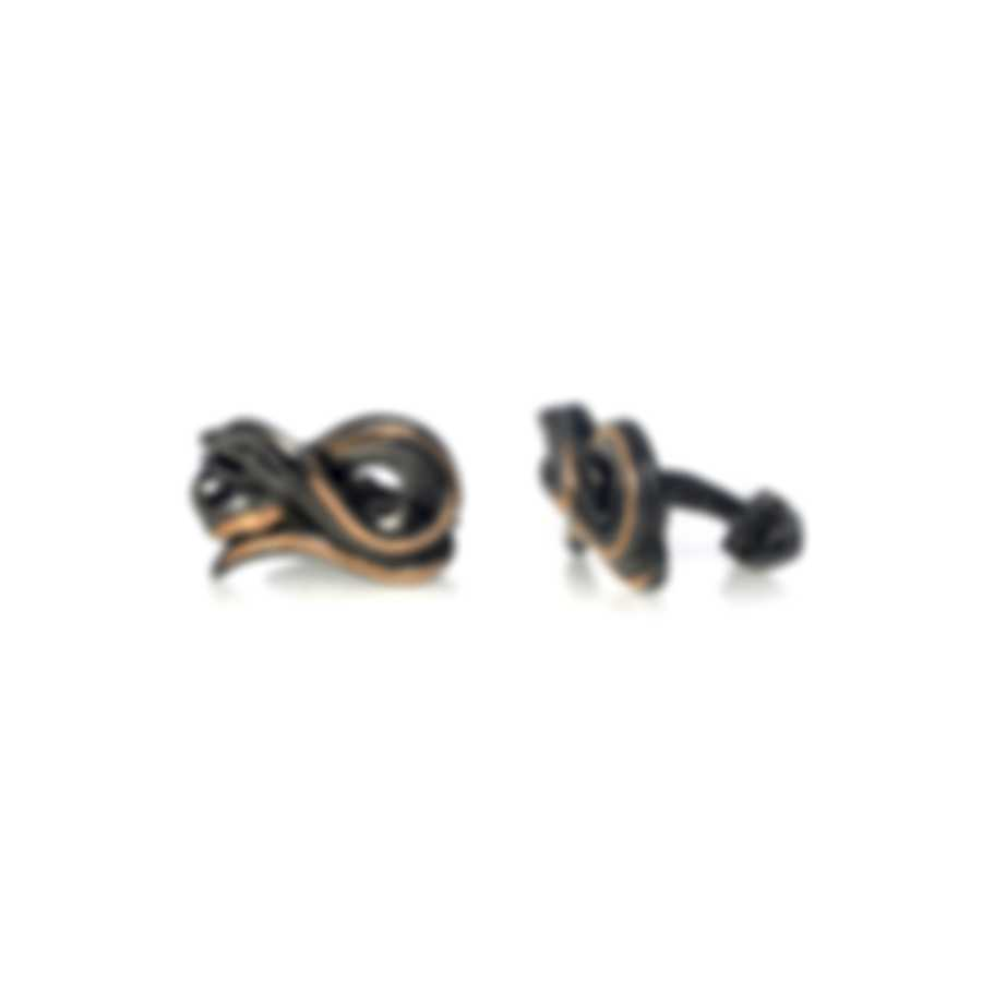 Stephen Webster Beasts Of London Sterling Silver & 18k Rose Gold Cufflinks SM019