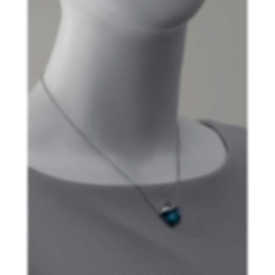 Stephen Webster Superstud Sterling Silver & Blue Cat's Eye Necklace SP0488-XX-BL