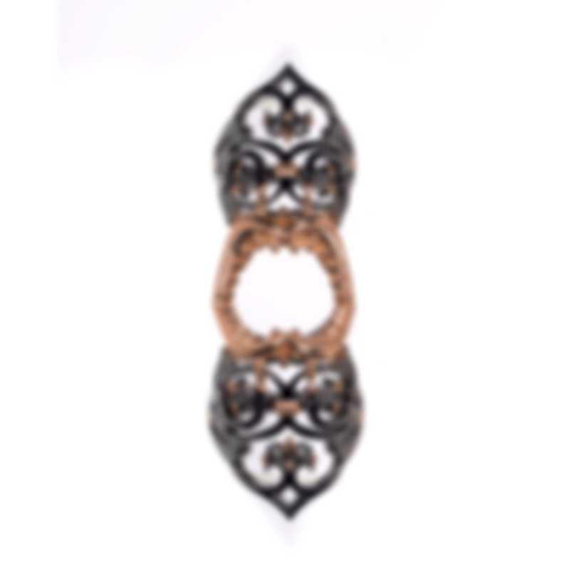 Stephen Webster Les Dents De La Mer Sterling Silver & 18k Rose Gold Ring Sz 7 SR