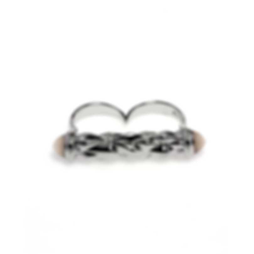 Stephen Webster Superstud Sterling Silver Cat's Eye Cabochons Ring Sz 8 SR0341-1-1