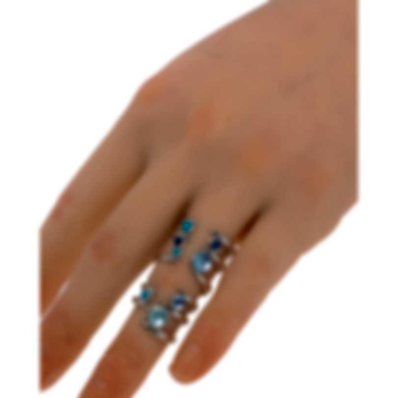 Stephen Webster Jewels Verne Sterling Silver & Turquoise Ring Sz 7 SR0347-XX-BLU