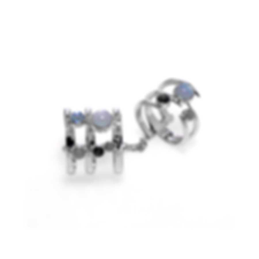 Stephen Webster Jewels Verne Sterling Silver & Obsidian Ring Sz 8 SR0347-XX-MONO