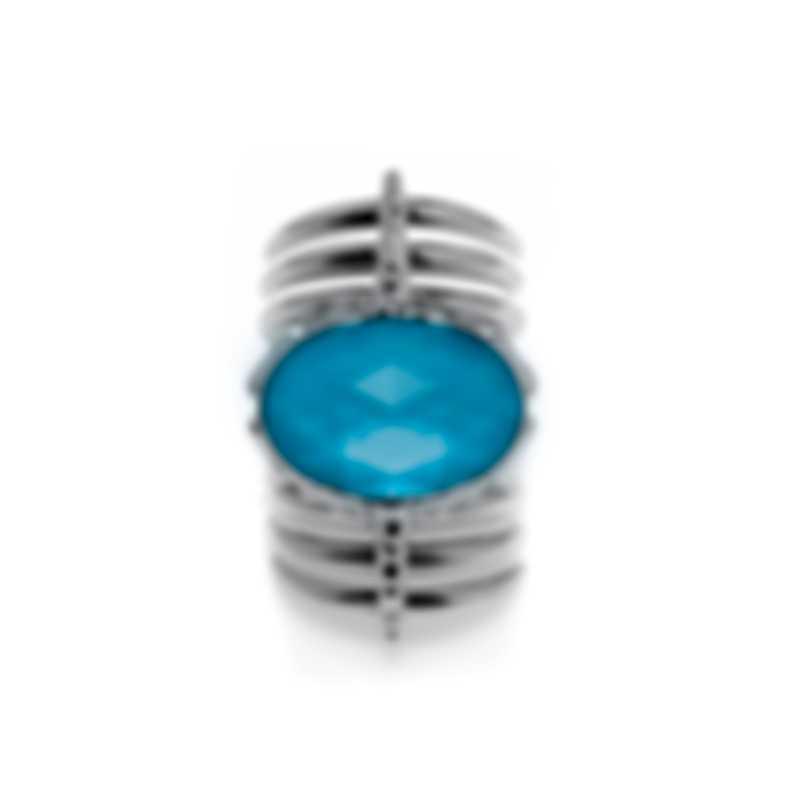 Stephen Webster Jewels Verne Sterling Silver & Turquoise Ring Sz 8 SR0348-XX-TUR