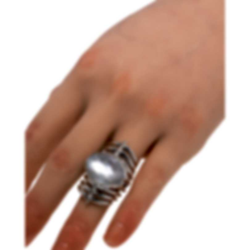 Stephen Webster Jewels Verne Sterling Silver & Agate Ring Sz 8 SR0348-XX-WAG-WMO