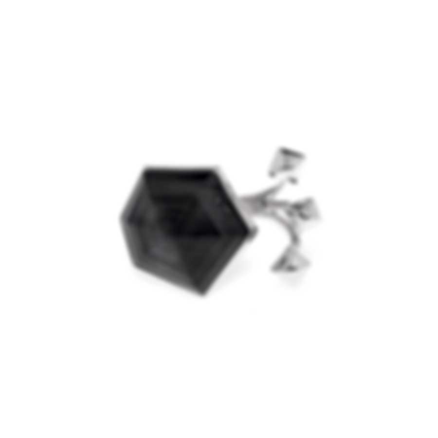 Stephen Webster Superstud Sterling Silver & Cat's Eye Crystal Haze Ring Sz 6 SR0