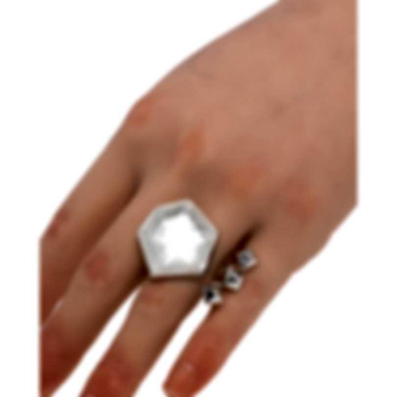 Stephen Webster Superstud Sterling Silver Crystal Haze Ring Sz 6 SR0350-XX-WMOP