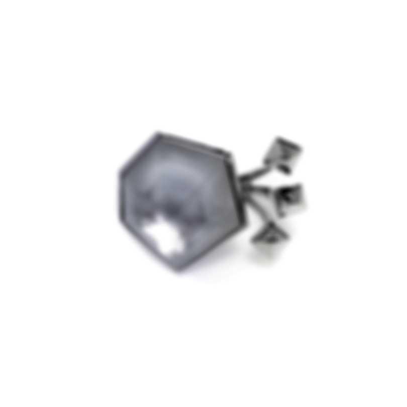 Stephen Webster Superstud Sterling Silver Crystal Haze Ring Sz 8 SR0350-XX-WMOP
