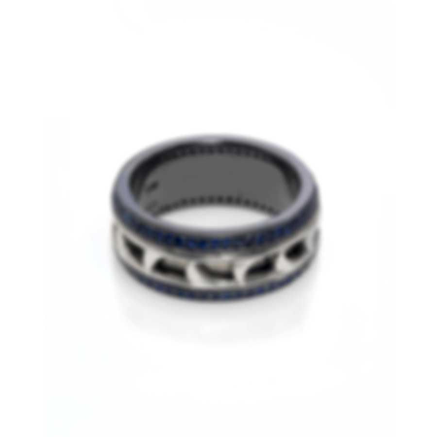 Stephen Webster Thorn Sterling Silver & Sapphire Ring Sz 11 SR0314-XX-RH-BLS-11