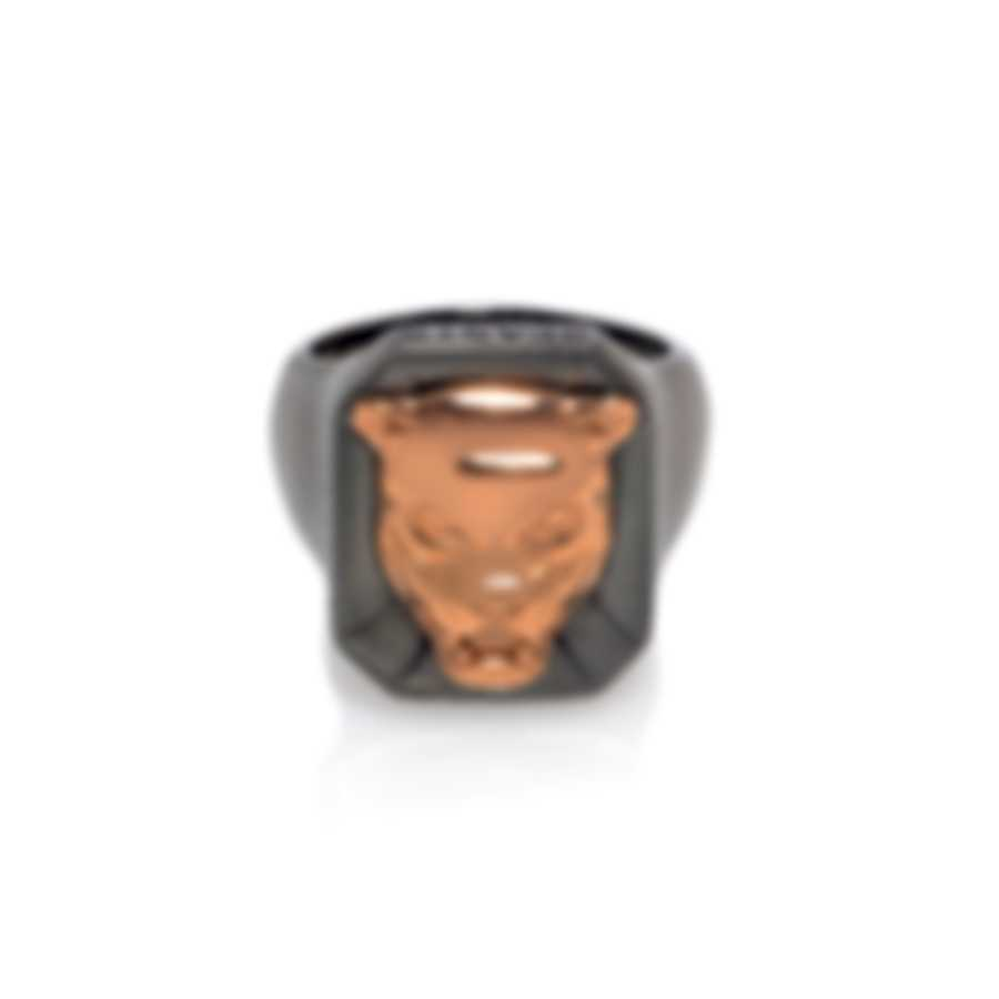 Stephen Webster Beasts Of London Sterling Silver 18k Rose Gold Ring Sz 10 SR10-1