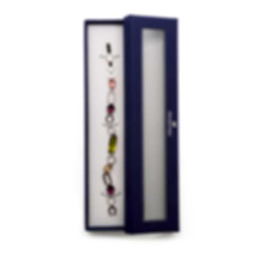 Swarovski Cynthia Rhodium Plated Light Multi Colored Crystal Bracelet 5114973