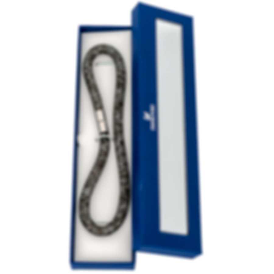 Swarovski Nylon And Rhodium Plated Black Crystal Bracelet 5136303