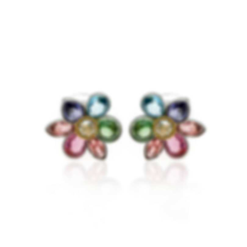 Swarovski Heritage Rhodium Plated Light Multi Colored Crystal Earrings 5227320