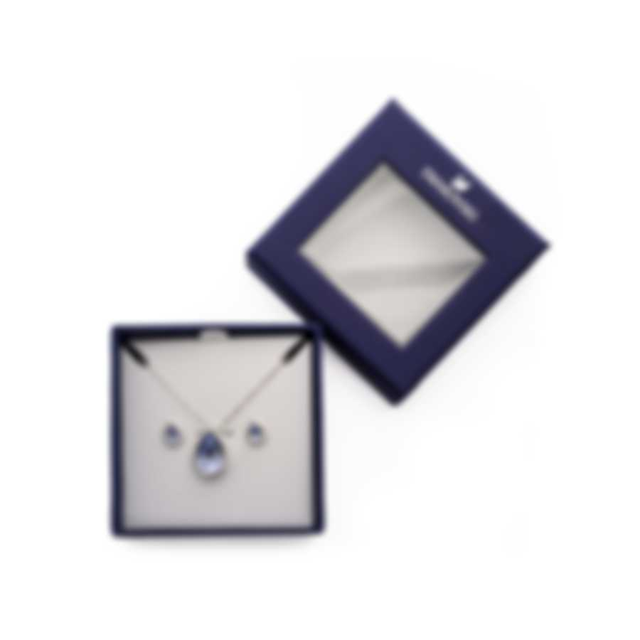 Swarovski Laina Rhodium Plated Crystal Necklace And Earring Set 5347548