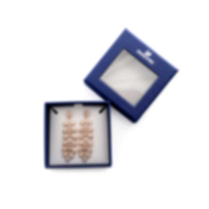 Swarovski Baron Rose Gold Tone Crystal Earrings 5374120