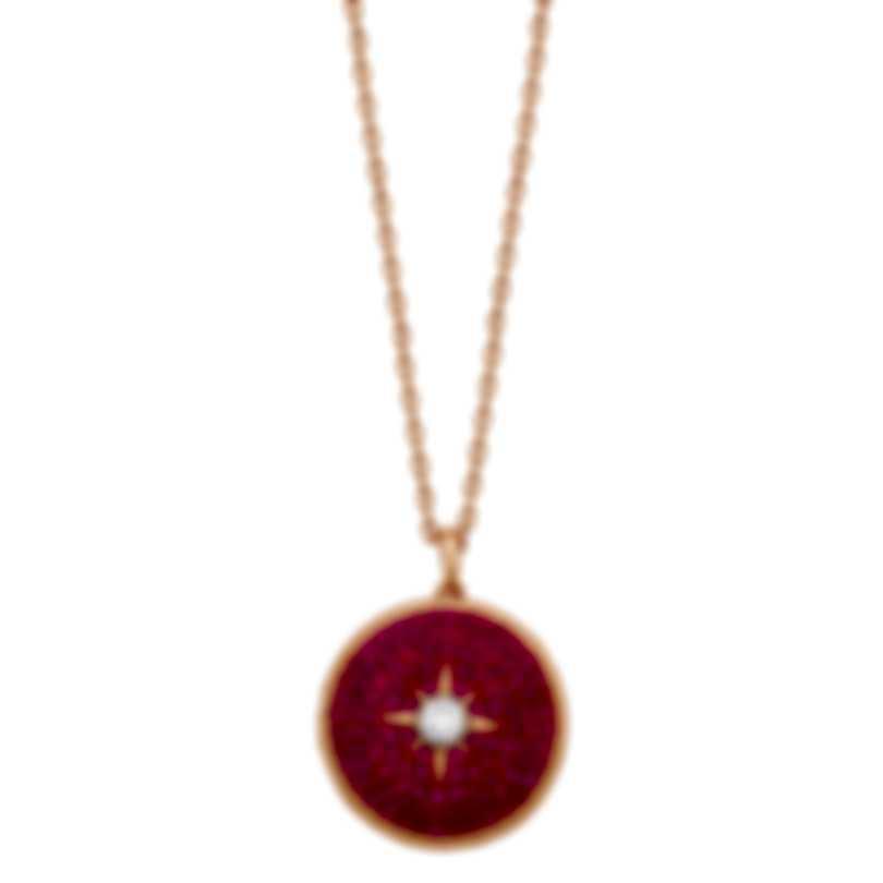 "Swarovski ""Locket"" 18k Rose Gold-Plated Pink Swarovski Crystal Necklace 5397125"
