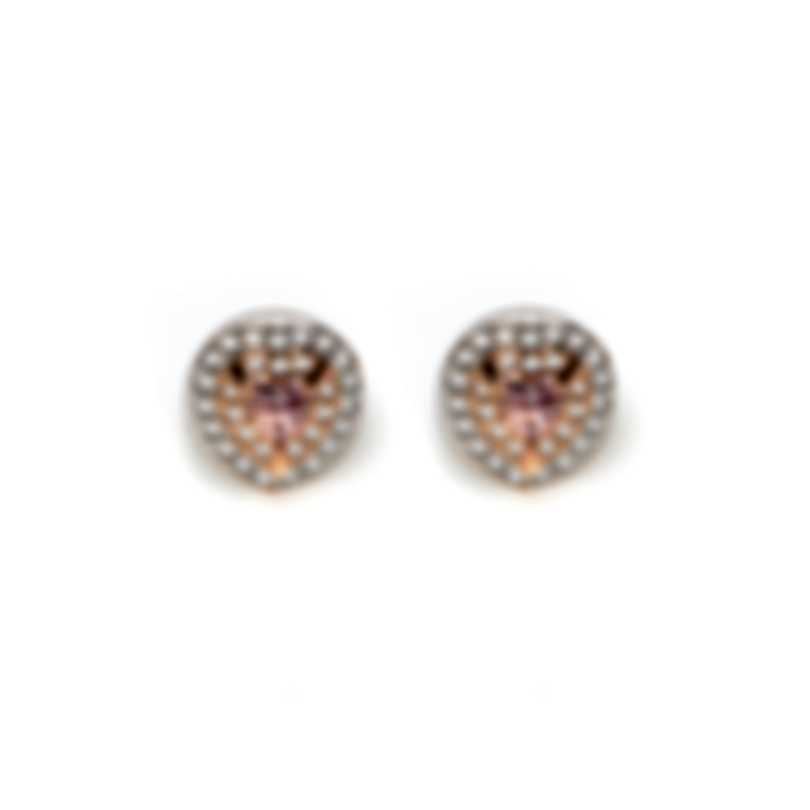 Swarovski One Rose Gold Tone And Cubic Zirconia Earrings 5446995