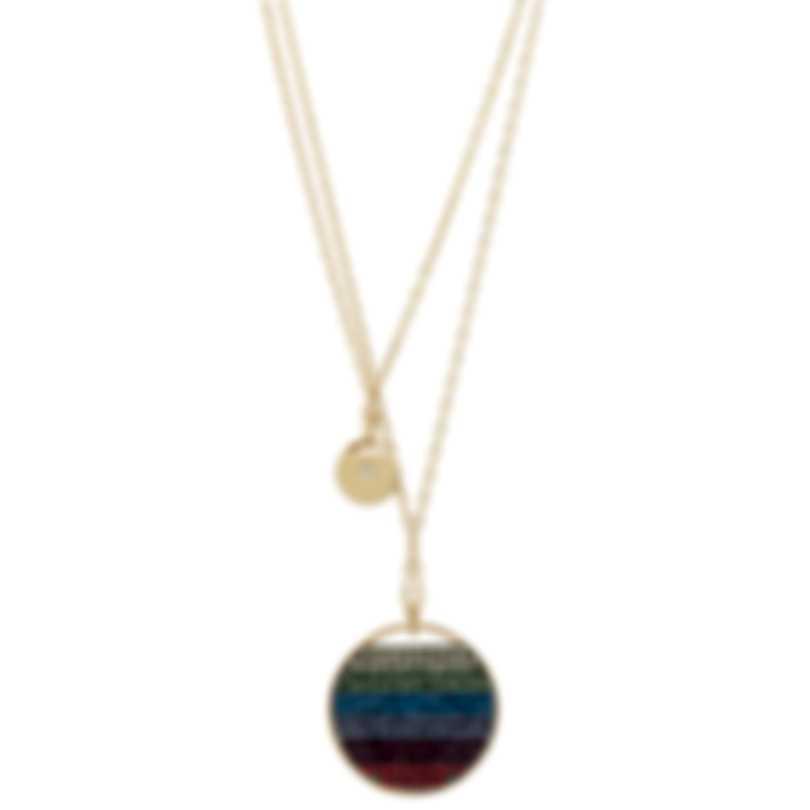 Swarovski Gold Plated Rainbow Crystal Necklace 5440694