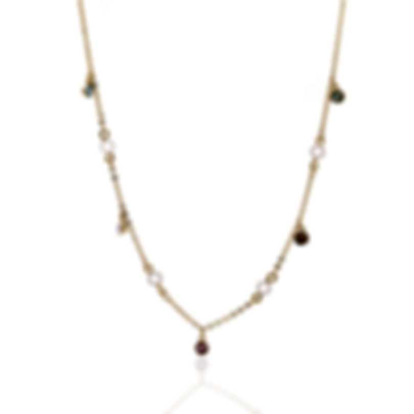 Swarovski No Regrets Gold Tone Light Multi Colored Crystal Necklace 5457664