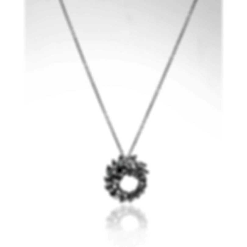 Swarovski Louison Rhodium Plated Czech White Crystal Necklace 5450926