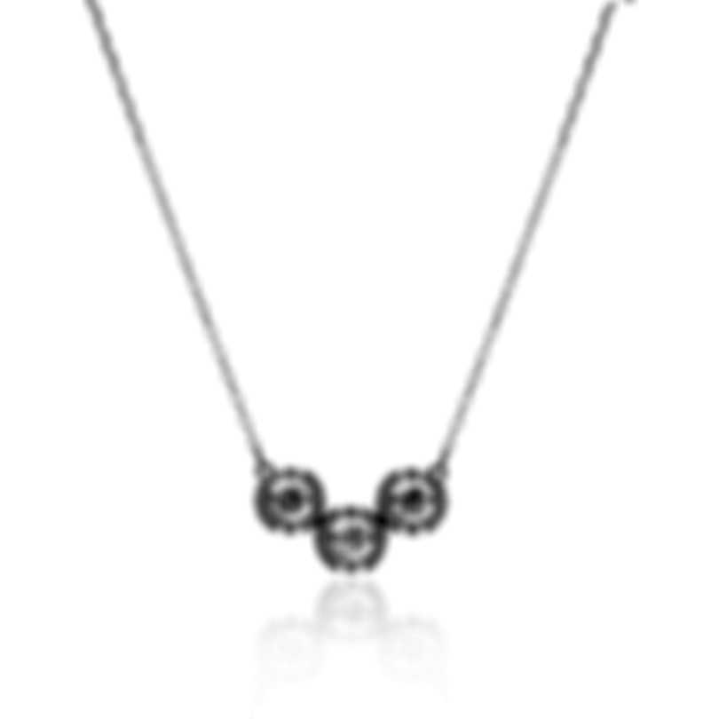 Swarovski Sparkling Dance Trilogy Czech White Crystal Necklace 5465275