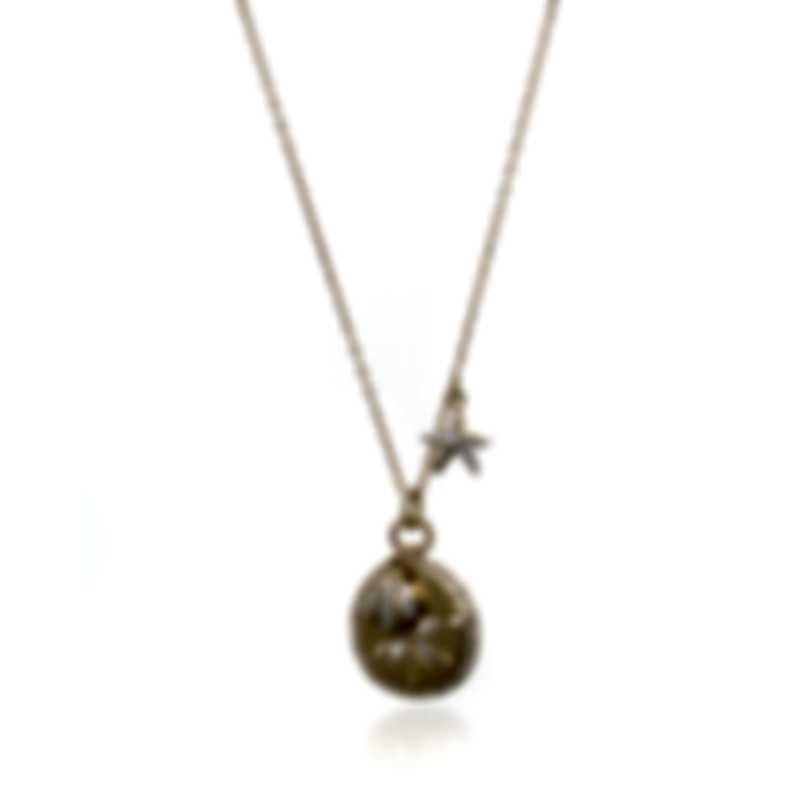 Swarovski Ocean Gold Tone Crystal Necklace 5462580