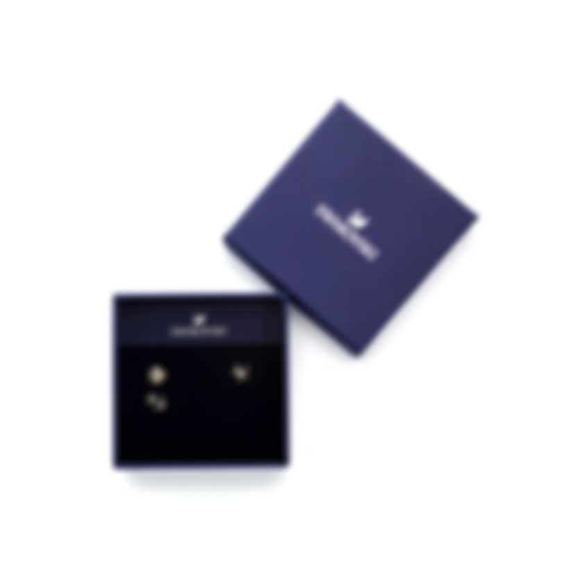 Swarovski Ocean Mixed Metal  Light Multi Colored Crystal Earrings 5462582