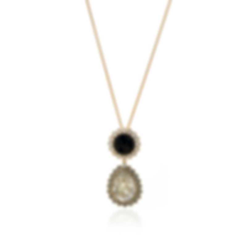 Swarovski Millennium Gold Tone Velvet And Crystal Necklace 5484172