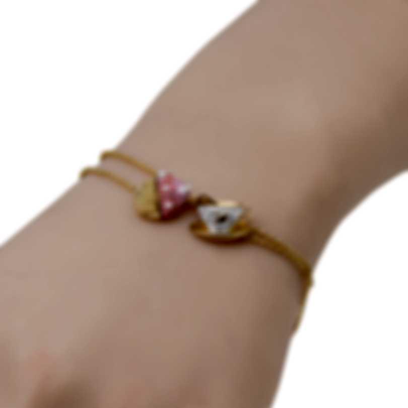 Swarovski Nicest Gold Tone Light Multi Colored Crystal Bracelet 5486079