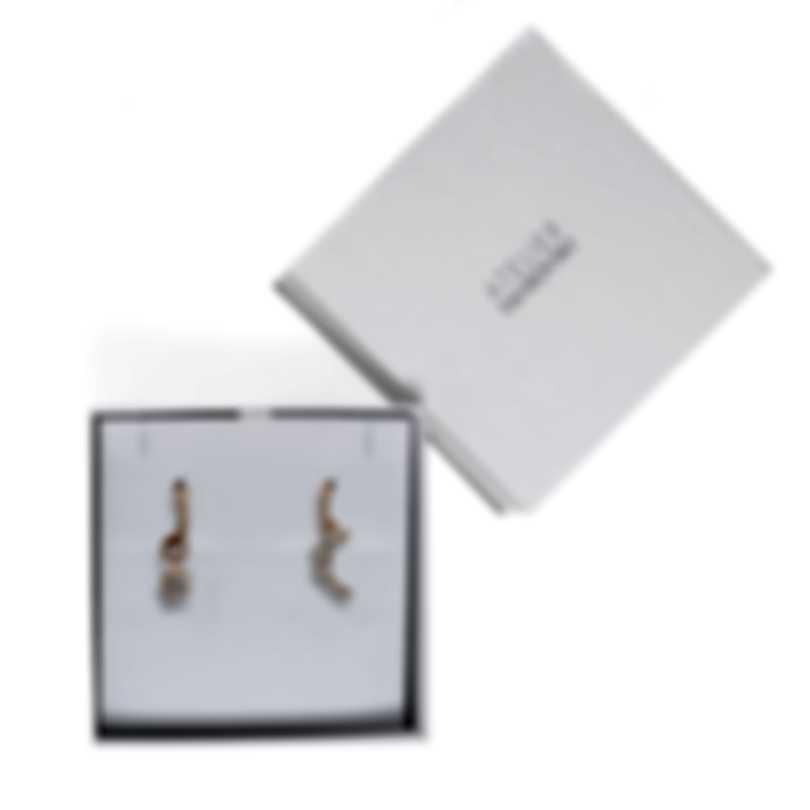 Swarovski Moonsun Rose Gold Tone And Czech White Crystal Earrings 5486354