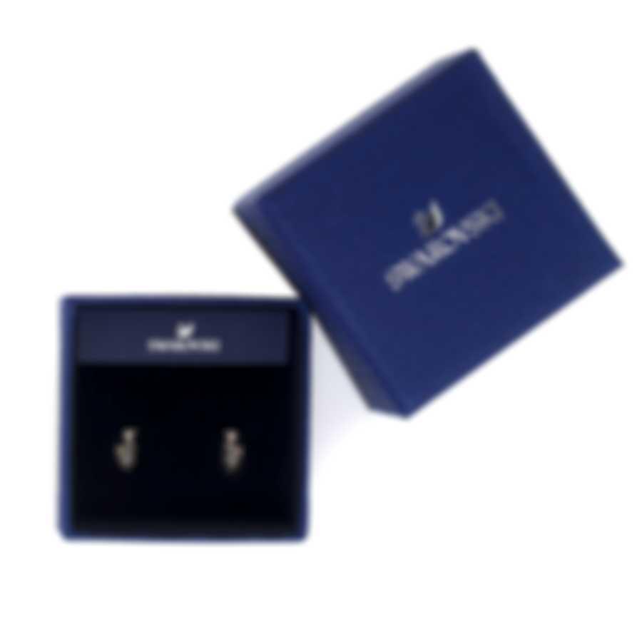 Swarovski Prosperity Rose Gold Tone And Black Crystal Earrings 5488203