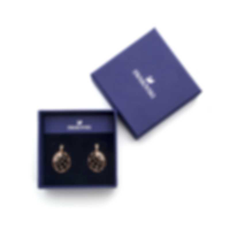 Swarovski Precisely Rose Gold Tone Czech White Crystal Earrings 5488406