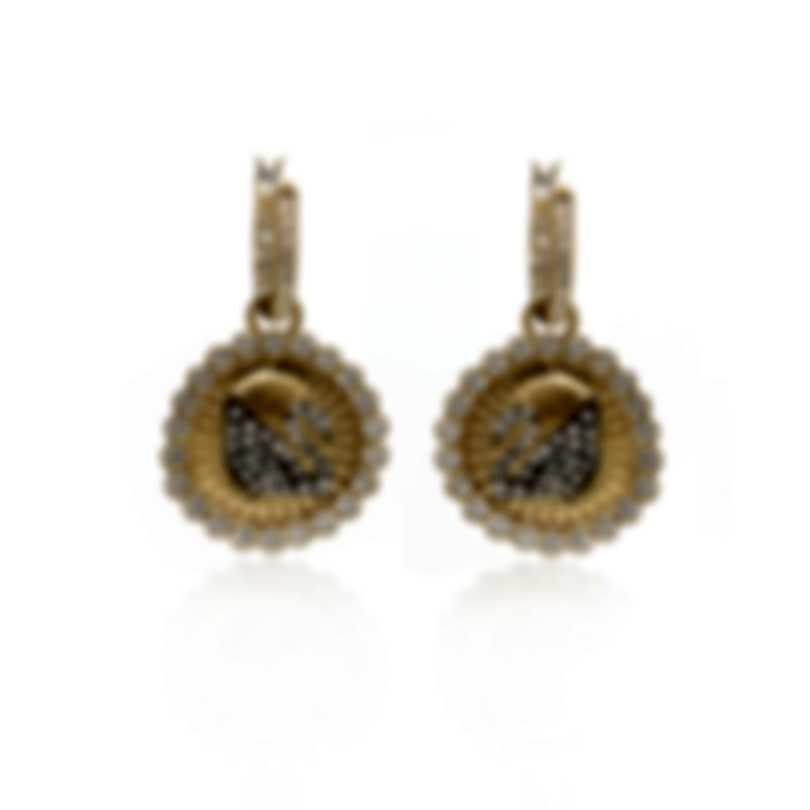 Swarovski Vintage Swan Gold Tone Crystal Earrings 5489216