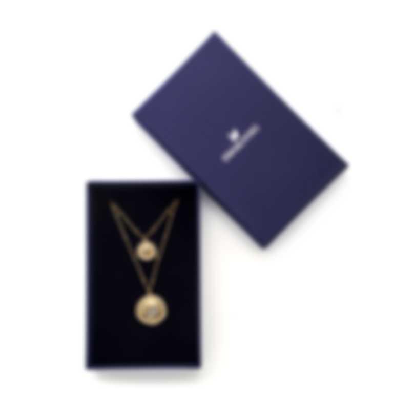Swarovski Vintage Swan Gold Tone Crystal Necklace 5489220