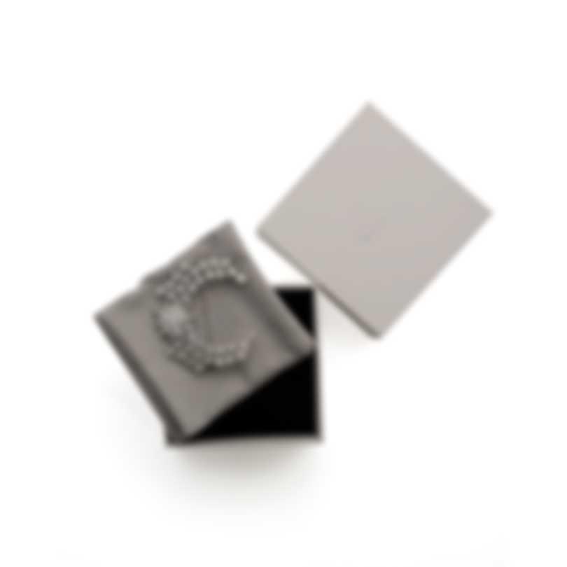 Swarovski Moonsun Rhodium Plated Czech White Crystal Brooch 5489759