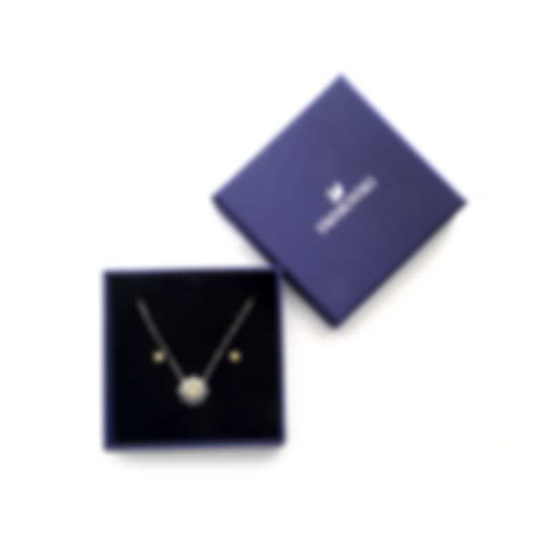 Swarovski Sunshine Czech White Crystal Necklace And Earring Set 5480464