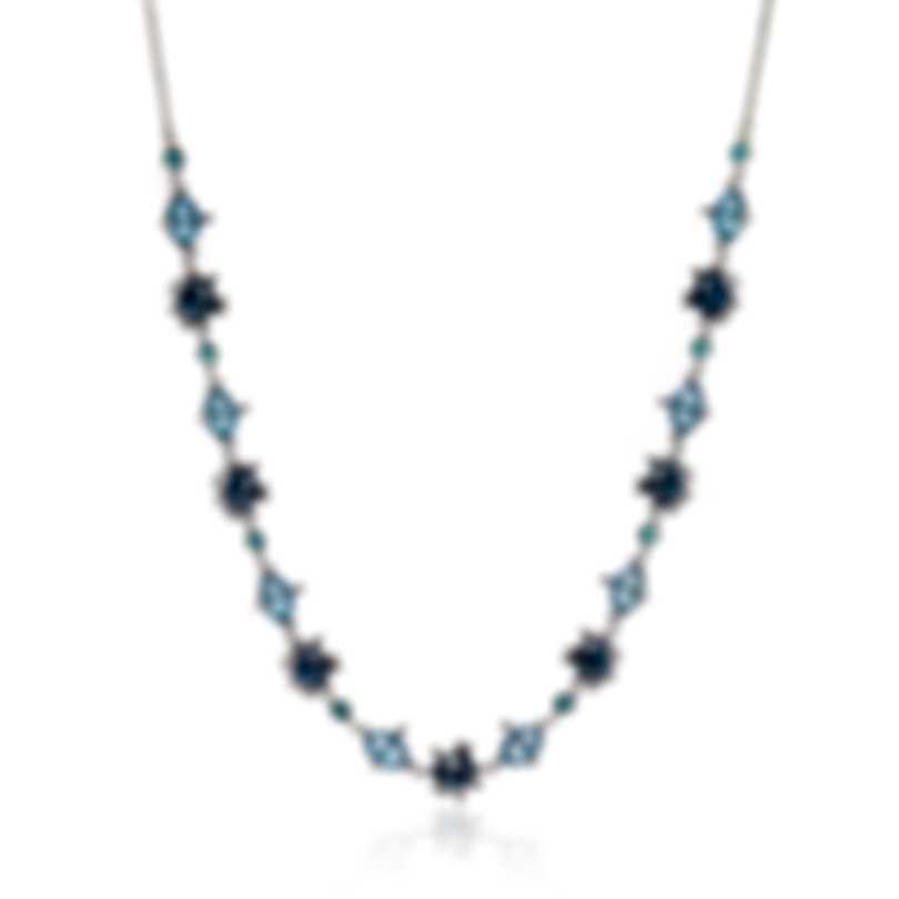 Swarovski Olive Rhodium Plated Light Multi Colored Crystal Necklace 5480481