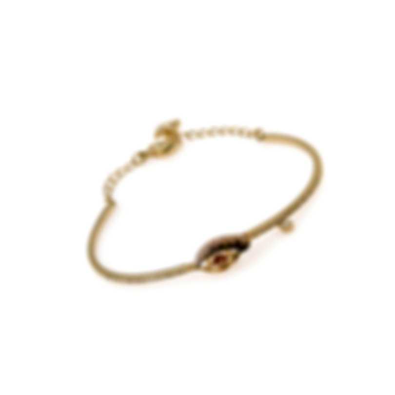 Swarovski New Love Gold Tone Dark Multi Colored Crystal Bracelet 5483977