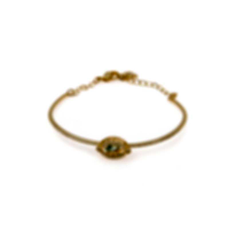 Swarovski Sparkling Gold Tone Czech White Crystal Bracelet 5497476