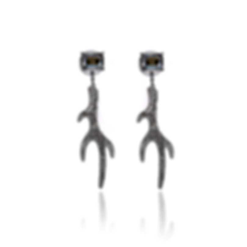 Swarovski Polar Bestiary Rhodium And Crystal Earrings 5497634