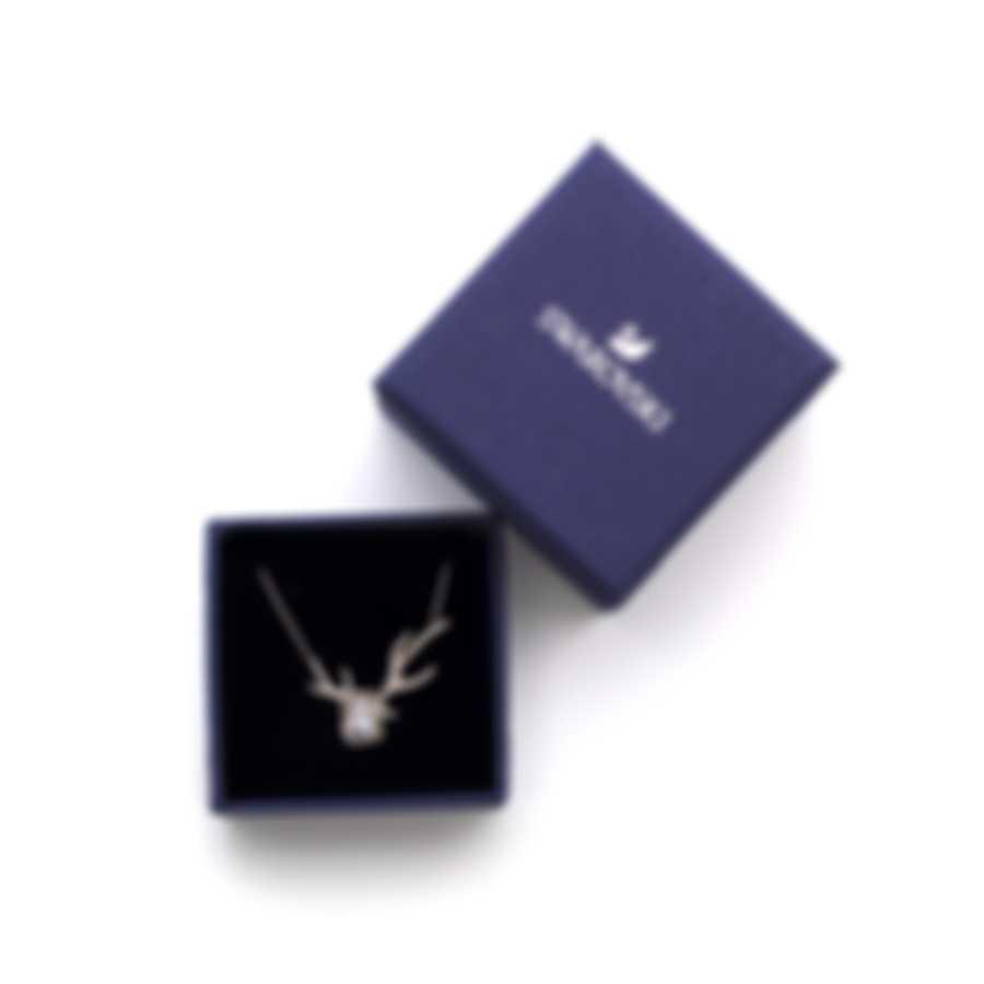 Swarovski Polar Bestiary Rhodium And Crystal Necklace 5497638