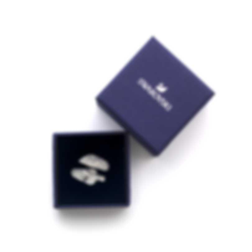 Swarovski Polar Bestiary Rhodium And Crystal Ring Sz 6.5 5497659