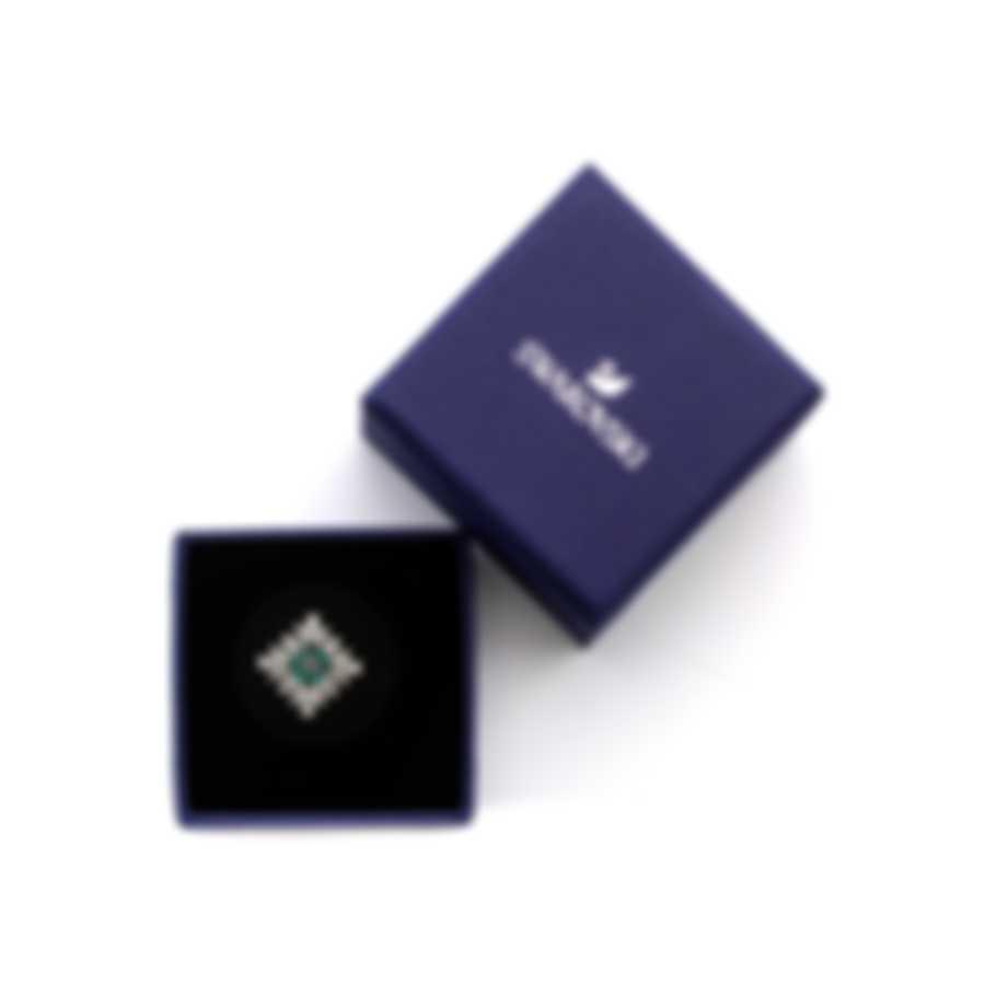 Swarovski Palace Rhodium Plated Czech White Crystal Ring Sz 7 5498838