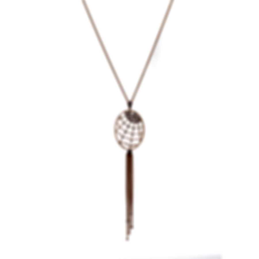 Swarovski Precisely Rose Gold Tone Czech White Crystal Necklace 5499887