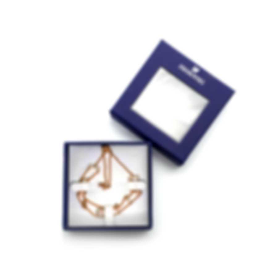 Swarovski One Rose Gold Tone And Crystal Bracelet 5492243