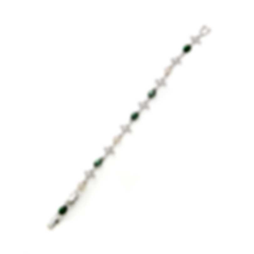 Swarovski Perfection Rhodium Plated Crystal & Crystal Pearl Bracelet 5493102